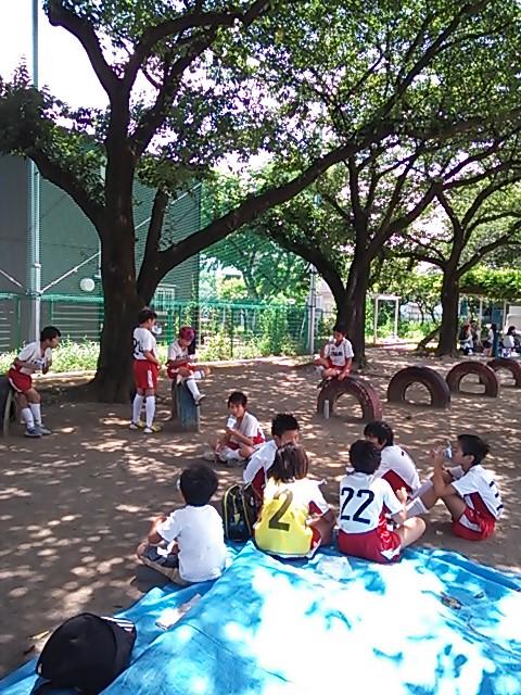 サッカーの練習試合
